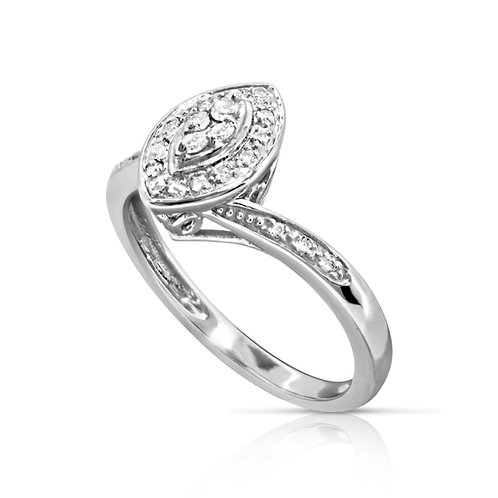Soft Diamond Shape Diamond Ring