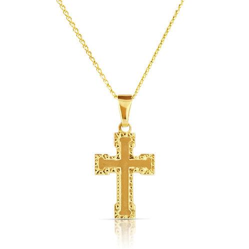 Gold Cross Pendant Necklace