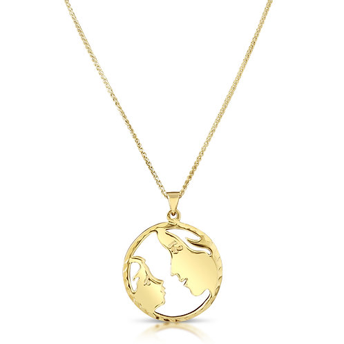 Mother & Child Gold Pendant