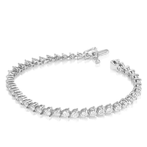 Slick Modern Diamond Tennis Bracelet