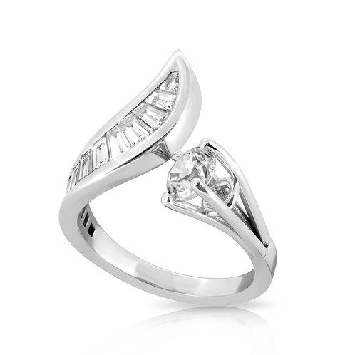 Unique Special Diamond Cut Spiral Ring