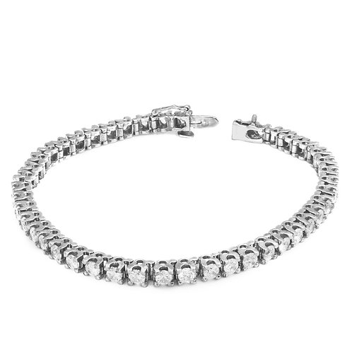 Plain Squarish Diamond Tennis Bracelet