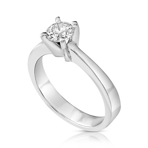 Classic Prominent Diamond Engagement Ring