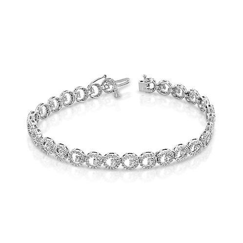 Circles Diamond Surrounding Tennis Bracelet