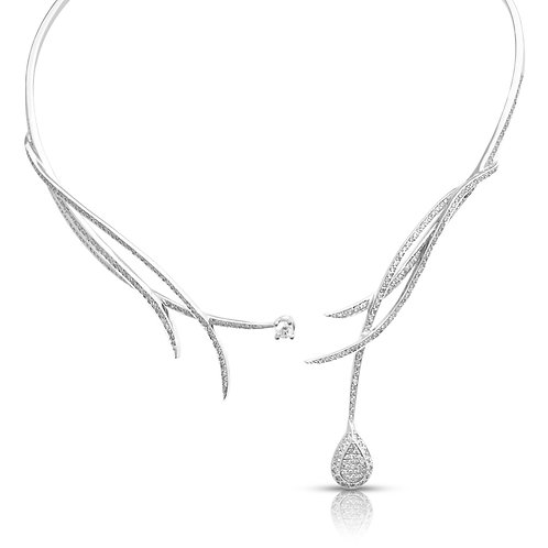 Diamond Bridal Branches Necklace