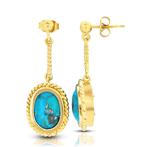 Prominent Oriental Turquoise Earrings