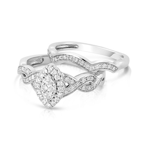 Tangled Diamond Shape Diamond Set