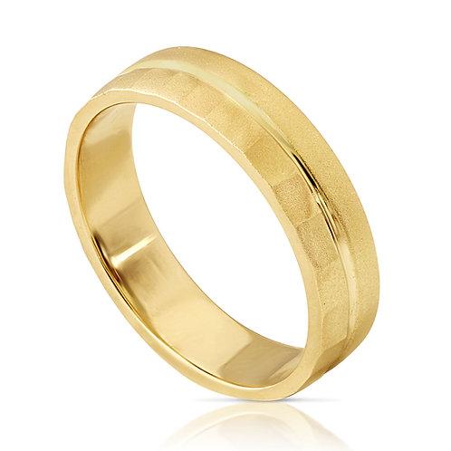 Textured Sand Blast Finish Wedding Ring