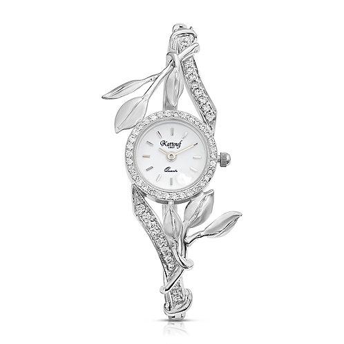 Leaf Design Kattouf Diamond Timepiece