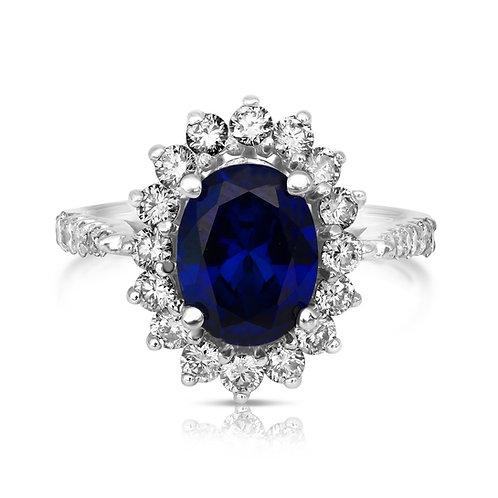 Upgraded Sapphire & Diamonds Diana Proposal Ring