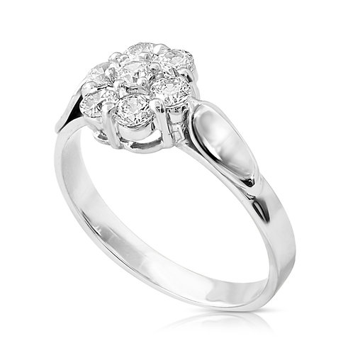 Diamond Flower Bouquet Engagement Ring