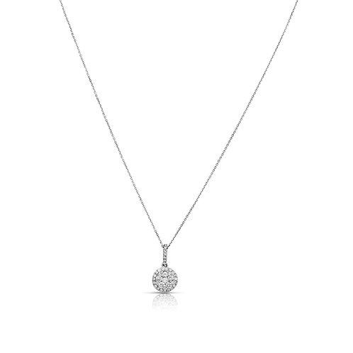 Soft Diamond Inlaid Circle Pendant