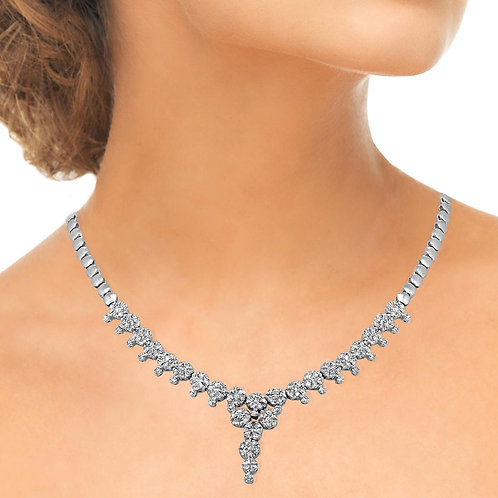 Pave Body Smooth Blossom Diamond Set