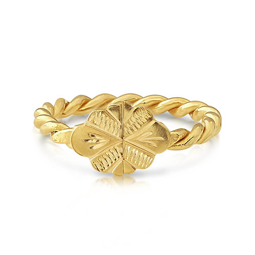 Twisted Traditional Mabrouma Ring 18K