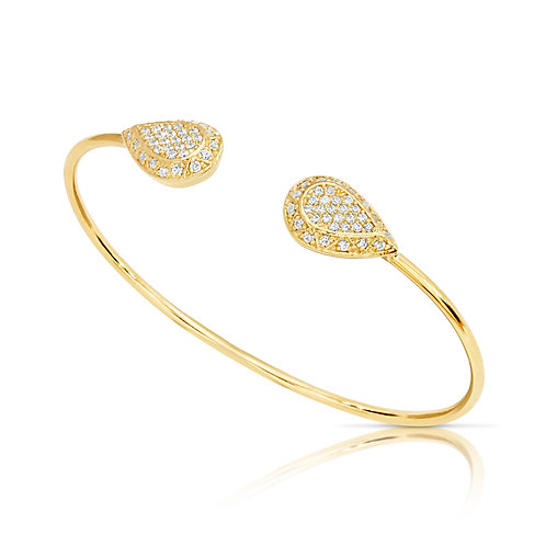 Pear Diamond Inlaid Bracelet