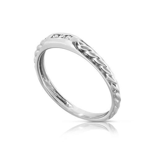 Soft Tabular Diamond Ring