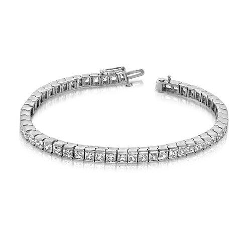 Classy Diamond Princess Cut Bracelet