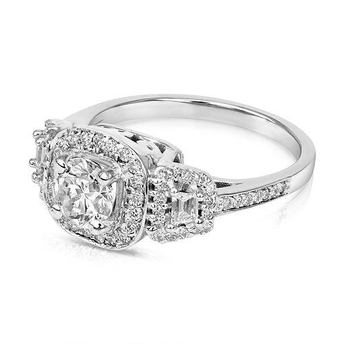 Modern Design Trapeze Diamond Ring