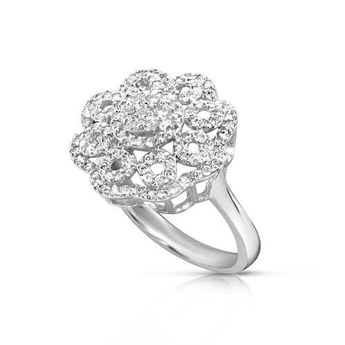 Special Bold Diamond Flower Ring