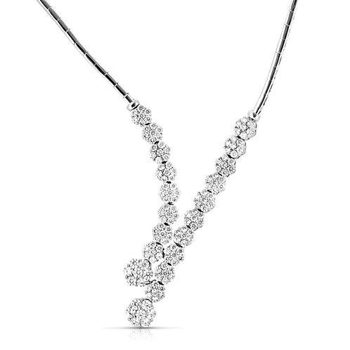 Soft Flowers Diamond Bridal Necklace