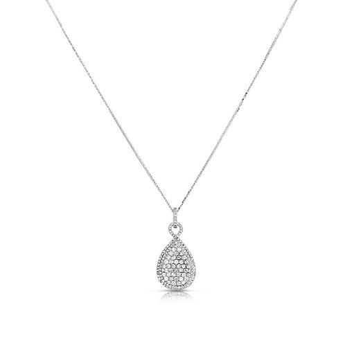 Elegant Drop Diamond Packed Pendant
