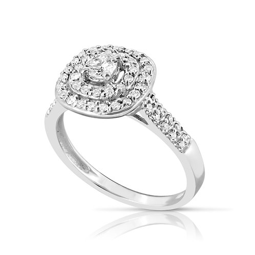 Gradual Collar Diamond Engagement Ring