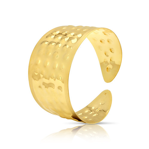 Traditional Hammered Finish Cuff Bracelet