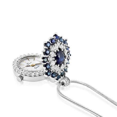 Sapphire & Diamond Flower Watch