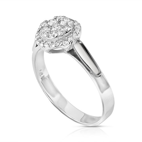 Diamond Strap Engagement Ring