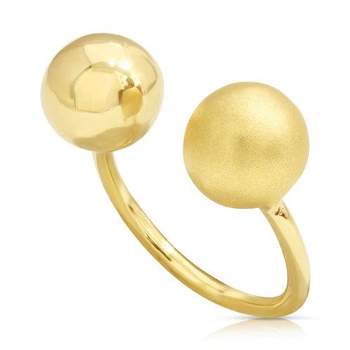 Ball Ring Polished & Sand Finish
