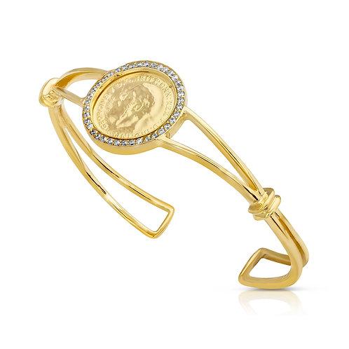 Traditional 1/4 Lera Bracelet With CZ