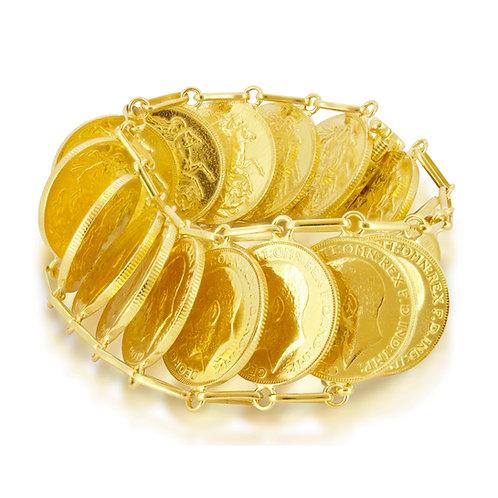 Compact 21K Gold Lera Bracelet