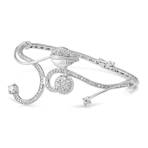 Diamond Leaves Bridal Bracelet