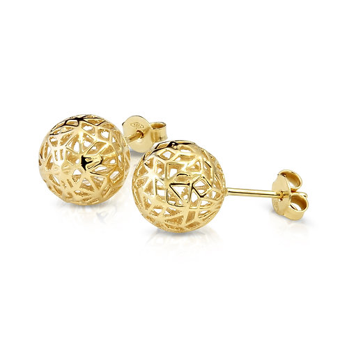 Modern Structure Balls Earrings