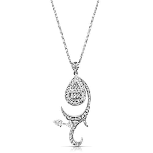 Diamond Inlaid Decorated Pendant