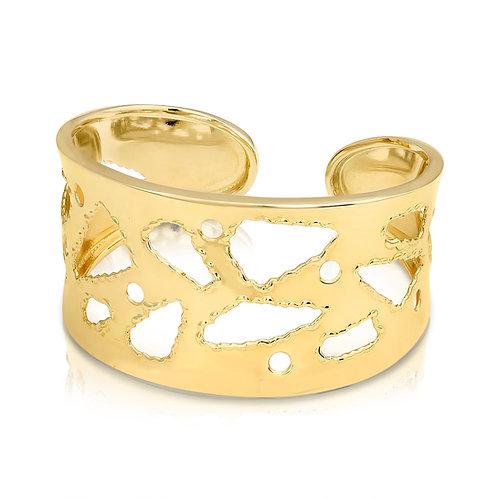 Cuff Bracelet With Modern Cuts