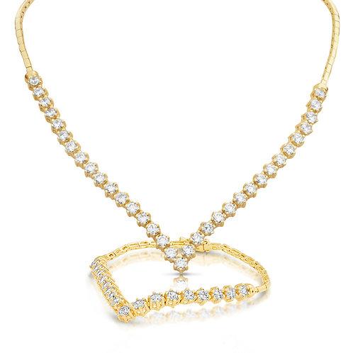 Prominent V Shape Diamond Set
