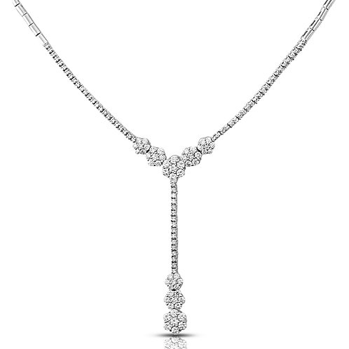 Flowery Diamond Necklace