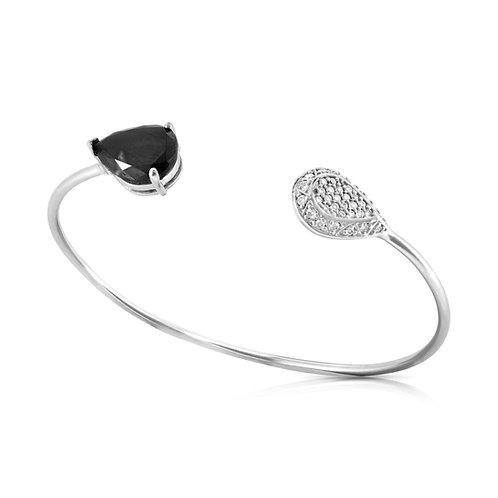 Black Pear Diamond Inlaid Bracelet