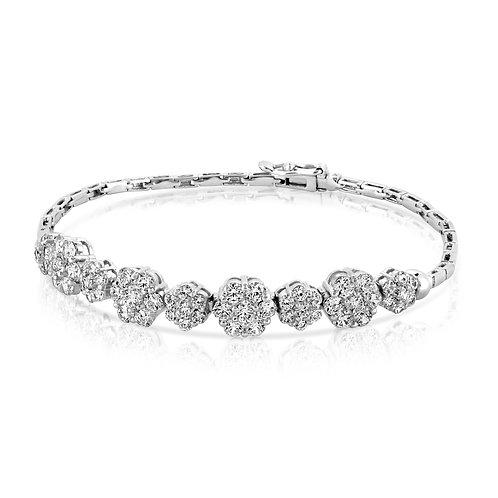 Soft Flowers Diamond Bridal Bracelet