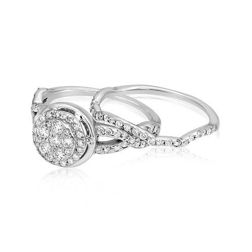 Twisted Diamond Engagement Set