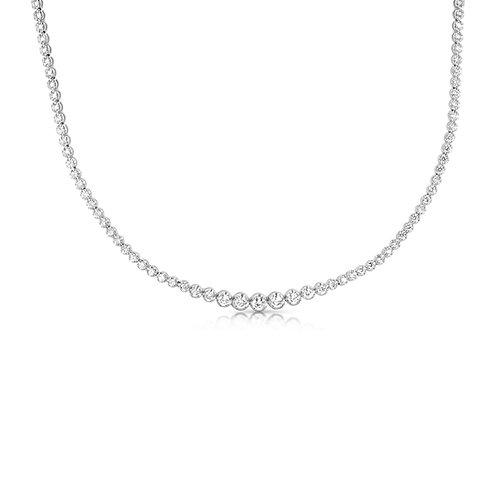 Tennis Necklace 4 Gradual Diamond Sizes
