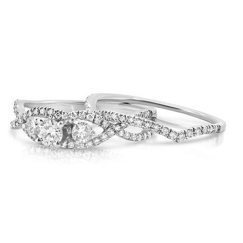 Tangled Engagement Diamond Set