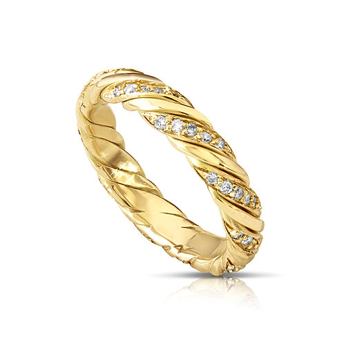 Twisted Diamond Wedding Ring