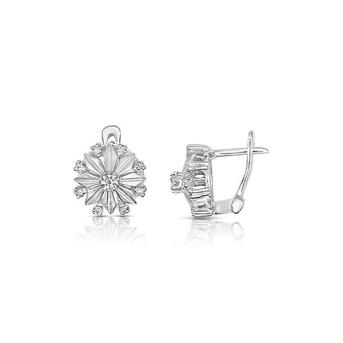Upgraded Diamond Fulla Flower Earrings