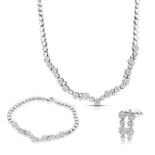 Diamond Loops Bridal Set