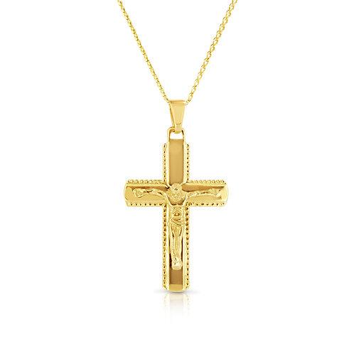 Baptism Gift, Unisex Cross Pendant