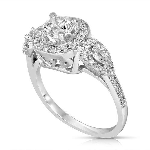 Luxurious Diamond Ring with Pear shaped Diamond Stones