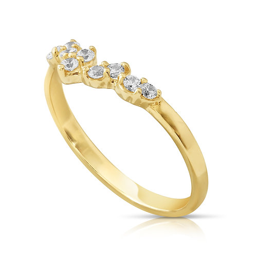 Soft Engagement Ring With CZ