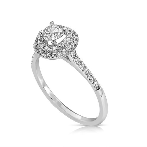 Neat Prominent Diamond Engagement Ring